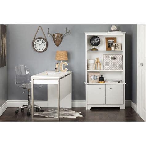 South Shore White Bookcase by South Shore Vito 3 Shelf Bookcase In White
