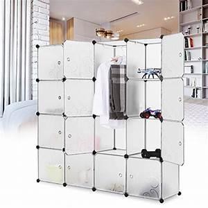 Regal Für Kleidung : langria stufenregal 16 kubus modular lagerregal garderobenschrank kleiderschrank mit ~ Markanthonyermac.com Haus und Dekorationen