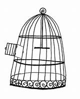 Cage Bird Coloring Pages Drawing Luke Flying Open Printable Place Getcolorings sketch template
