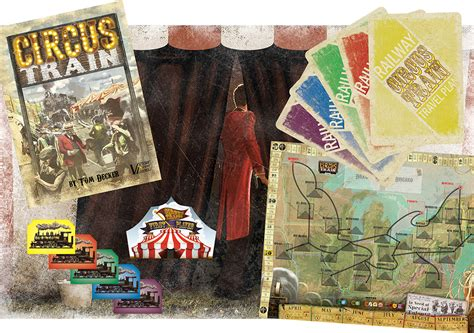 Circus Train Game Board