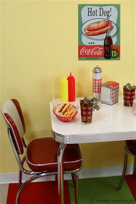 coca cola decorations a retro coca cola dinette nook