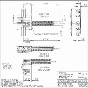 Hinge CAD Drawings SOSS 2161C Self Closing Hinge SOSS Door ...