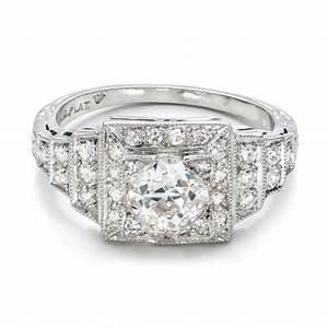 estate diamond engagement ring 100899 With estate jewelry wedding rings
