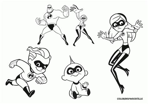 incredibles coloring pages  incredibles violet