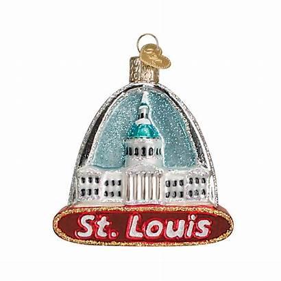 Arch Louis Glass Ornament Landmarks Ornaments