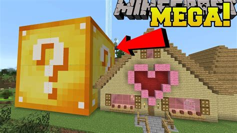 minecraft mega lucky block lucky block bigger   house youtube