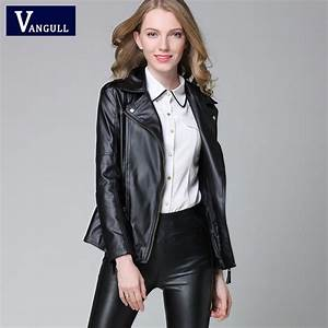 2016 Autumn Spring Short Fashion Leather Jacket Women Casual Coat Motorcycle jacket PU Leather ...