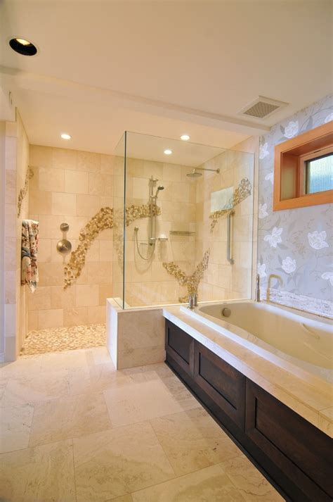 glass tile backsplash pictures for kitchen doorless walk in shower bathroom contemporary with