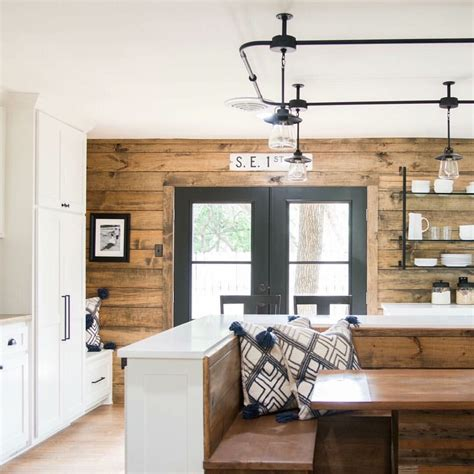 kitchen ideas painted shiplap paneling repurposed siding