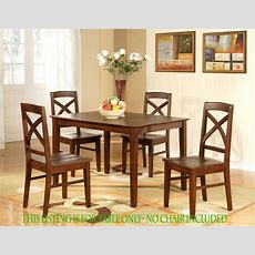 "Rectangular Dining Room Kitchen Table 36""x48"" In Espresso"