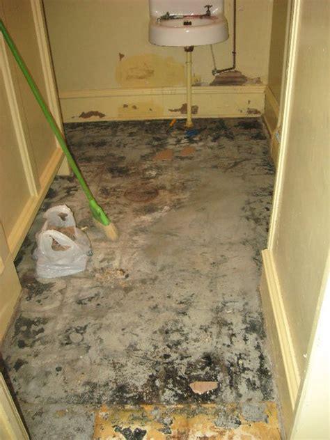 asbestos problem  glued  carpet flooring diy