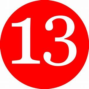 Red, Rounded,with Number 13 Clip Art at Clker.com - vector ...