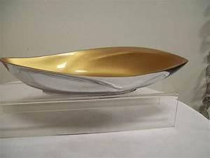 Deko Gold Silber : formano deko schale swing aus aluminium silber gold 31 cm lang ebay ~ Sanjose-hotels-ca.com Haus und Dekorationen