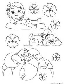 Moana Baby Coloring Pages Printable