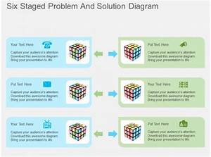 Hn Six Staged Problem And Solution Diagram Flat Powerpoint