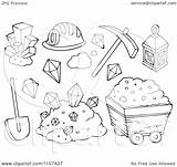 Mining Clipart Mine Items Gold Outlined Illustration Royalty Coloring Pages Visekart Vector Background Clipartpanda Template Templates Sketch sketch template