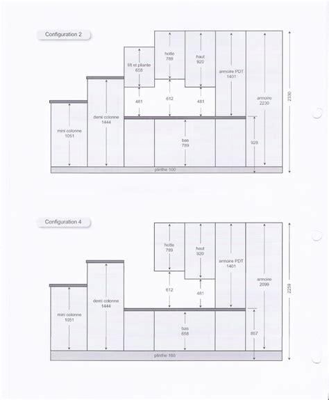 hauteur meubles cuisine hauteur meuble haut cuisine