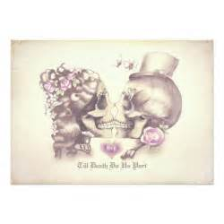 skull wedding invitations skull day of the dead wedding invitations zazzle