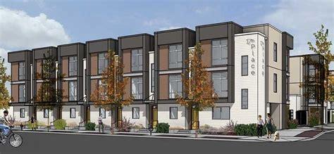 luxury townhome development breaks ground  downtown