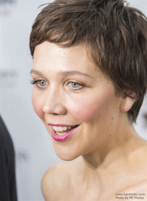 maggie gyllenhaal young  girly super short pixie haircut