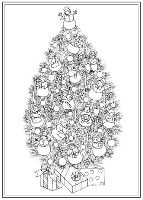 christmas tree coloring pages  adults  dr odd