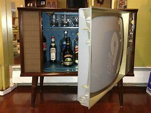 vintage tv hidden cocktail bar liquor cabinet liquor With home bar furniture retro