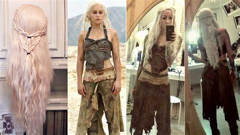 diy wavy wig khaleesi cosplay fuer die super geek night