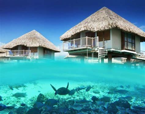 Pretty Bora Bora Overwater Bungalows
