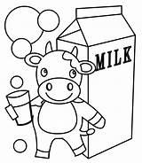 Coloring Milk Pages Milkshake Carton Bar Candy Chocolate Getcolorings Printable sketch template