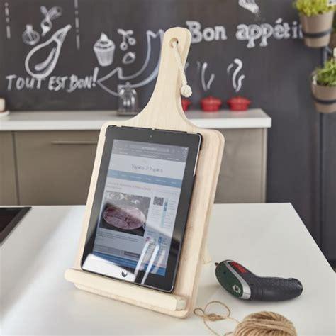 support cuisine tablette tuto créer un support pour tablette