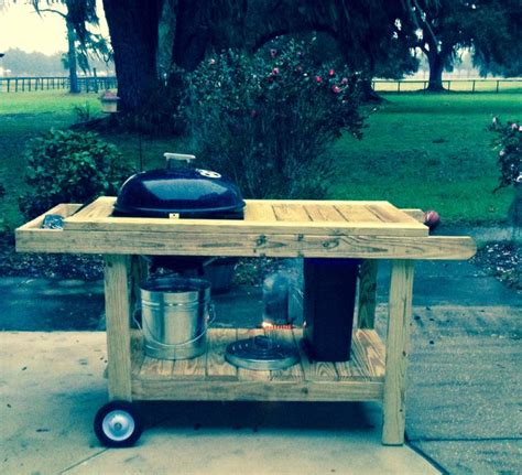 build  weber grill table woodworking projects