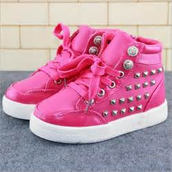 autumn children shoes girls shoes fashion rivet casual kids shoes breathable pu leather shoes girls soft high top sneakers girls