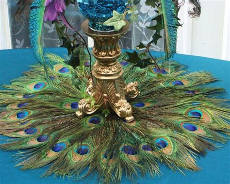 33 Gorgeous Peacock Centerpieces  Table Decorating Ideas