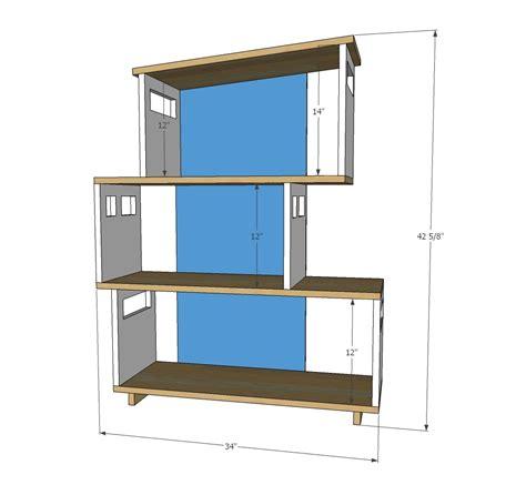 ana white modern dollhouse bookshelf diy projects