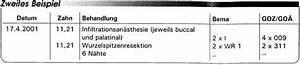 Bema Abrechnung : abrechnung nach bema und goz wurzelspitzenresektion ~ Themetempest.com Abrechnung