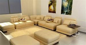 Sofa with table built in contemporary sectional sofa with for Sectional sofa with built in table