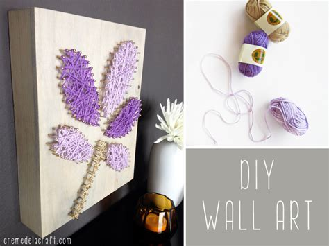 diy wall art from yarn nails