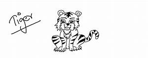 Fun How To Draw A Tiger Kids Step By For - Inofations for ...