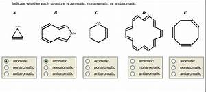 Solved  Indicate Whether Each Structure Is Aromatic  Nonar