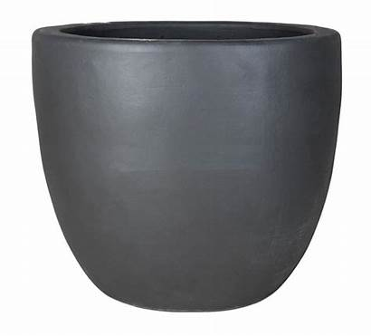 Ceramic Round Pot Planter Low Matte Planters
