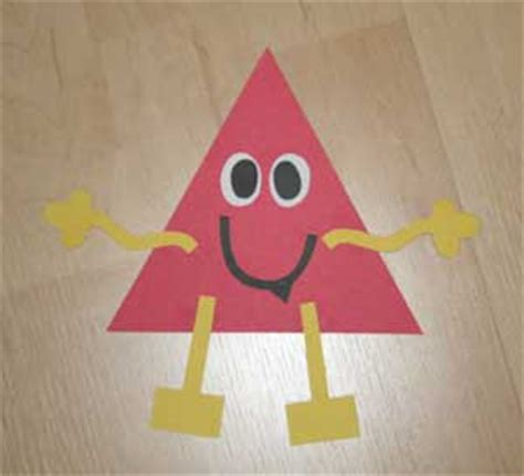 triangle template for kid craft triangle shape monster craft all kids network