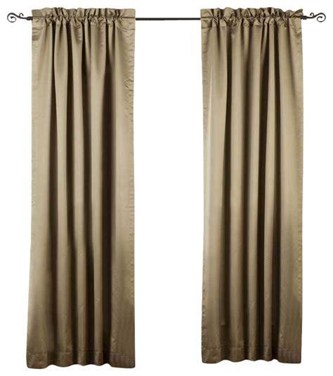 olive green rod pocket 90 blackout curtain drape