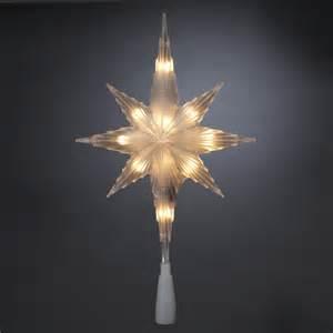 11 quot lighted bethlehem star christmas tree topper clear lights ebay