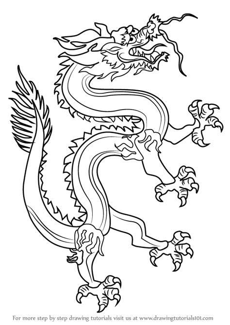 Learn How To Draw A Chinese Dragon (dragons) Step By Step