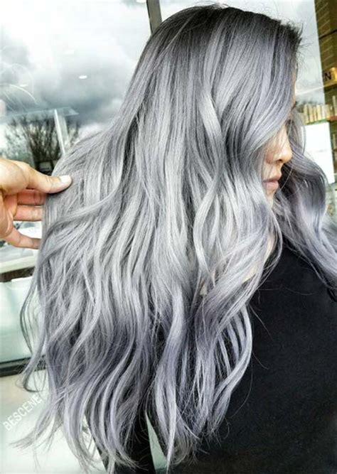 Cool Hair Colors For Black Hair by Silver Hair Trend 51 Cool Grey Hair Colors Tips For