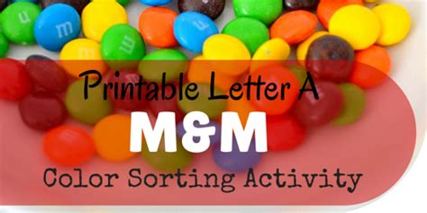 printable letter  mm color sorting activity miniature