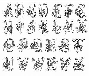 17 best images about alphabet of monogram on pinterest With ribbon letter monogram