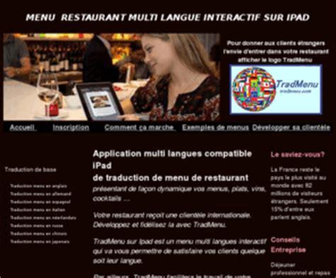 Traduction Carte Restaurant Italien by Tradmenu Traduction Menu Carte Restaurant Sur