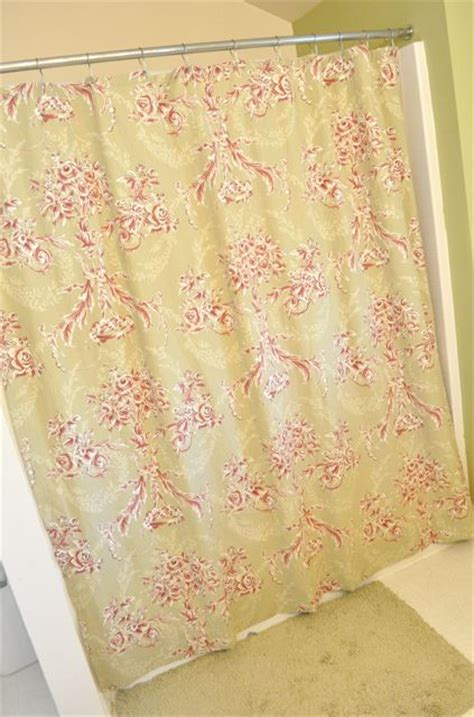 make a shower curtain out of a bed sheet tutorial