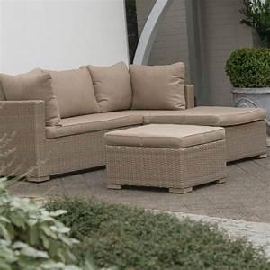 Polyrattan Lounge Sale : polyrattan geflecht lounge garnitur sofa inkl polster kissen beige alu exotan ebay ~ Whattoseeinmadrid.com Haus und Dekorationen